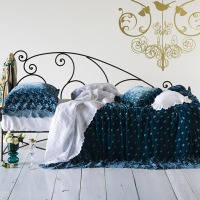 Bella Notte Coverlet Silk Velvet Embroidered