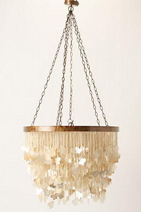 mother of pearl color capiz shell chandelier lighting
