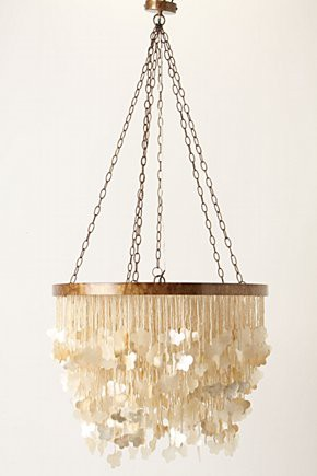 mother of pearl color capiz shell chandelier lighting