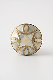 cabinet knob in white mother of pearl image
