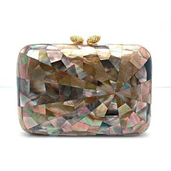 image starburst design mother of pearl fashion handbag elegant clutch