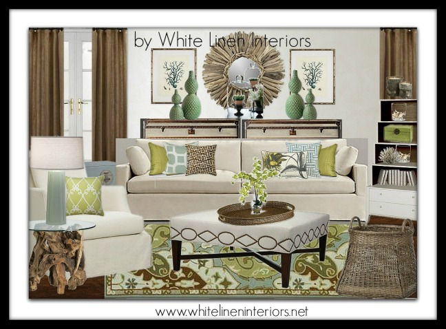 family room interior design board