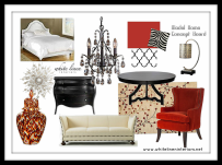 2D Decor Idea Board and concept for home staging or model home.