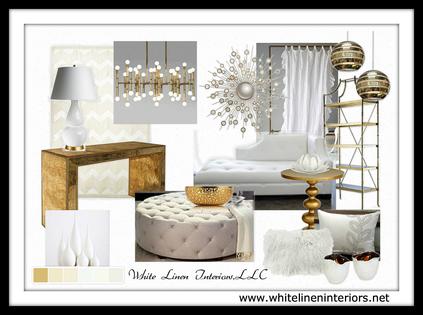 Decor Idea Baord | Luxe Living Room Part 79