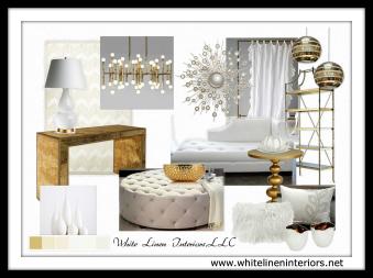 Decor Idea Baord   Luxe Living Room