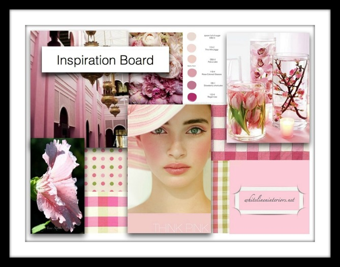 Pretty in Pink Decor Idea Concept Board