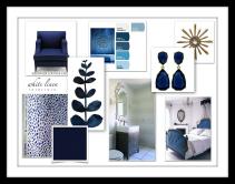Indigo Blue Color Design Board