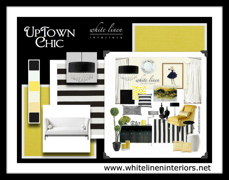 image of yellow black and white furniture and home decor ideas