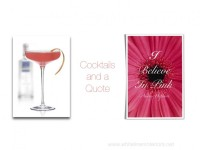 Entertaining Ideas | Pink Cocktails and a Quote | Blog White Linen Interiors Miami