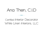 Ana D. Then, CID - Miami Interior Decorator - South Florida