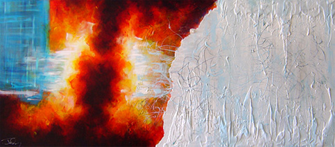 image Art Fire and Ice Artist: Chris Judy / Red White and Blue