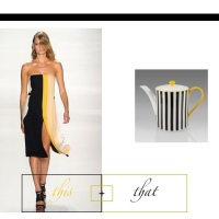 this + that | color block | Yellow, Black, White
