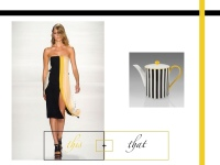This + That | Color Block Yellow,Black,White | Blog White Linen Interiors [dot] net