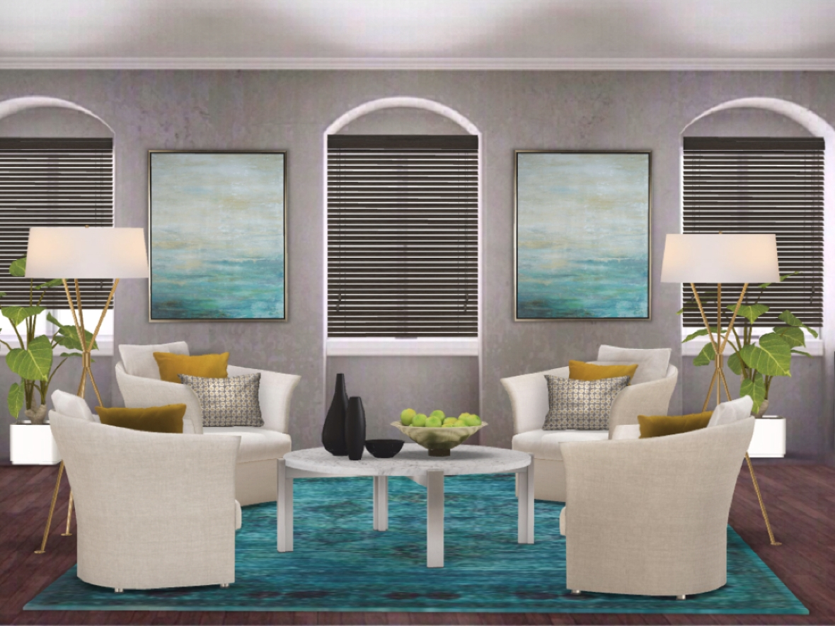 digital rendering living room
