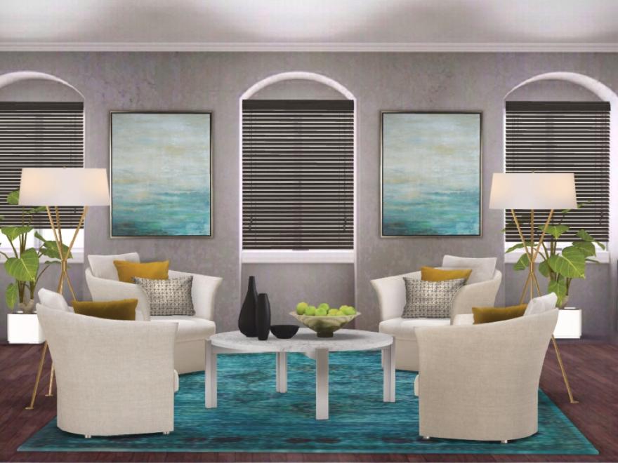 digital rendering living room