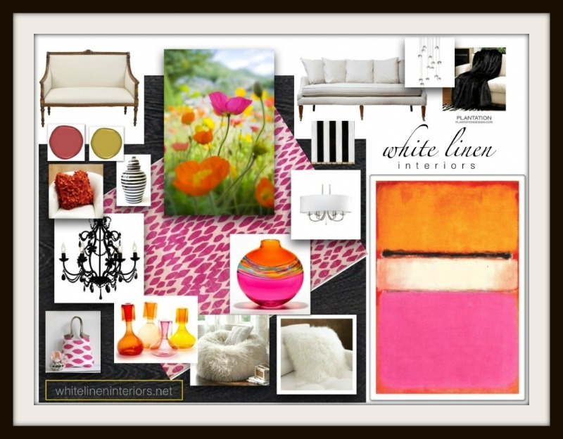 Spring Color Hues Home Decor Ideas e-design MoodBoard