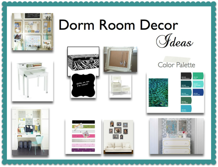Dorm decor and organization solutions.