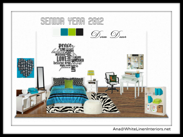 Dorm Room Decorating Ideas using OlioBoard MoodBoard