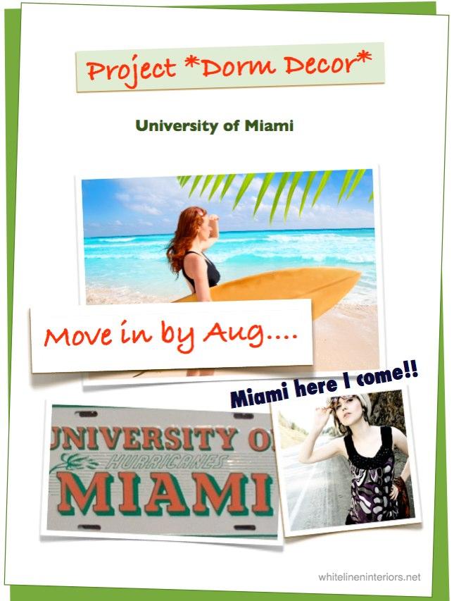 Project Dorm Decor: MoodBoard Dorm Decor Ideas | University of Miami