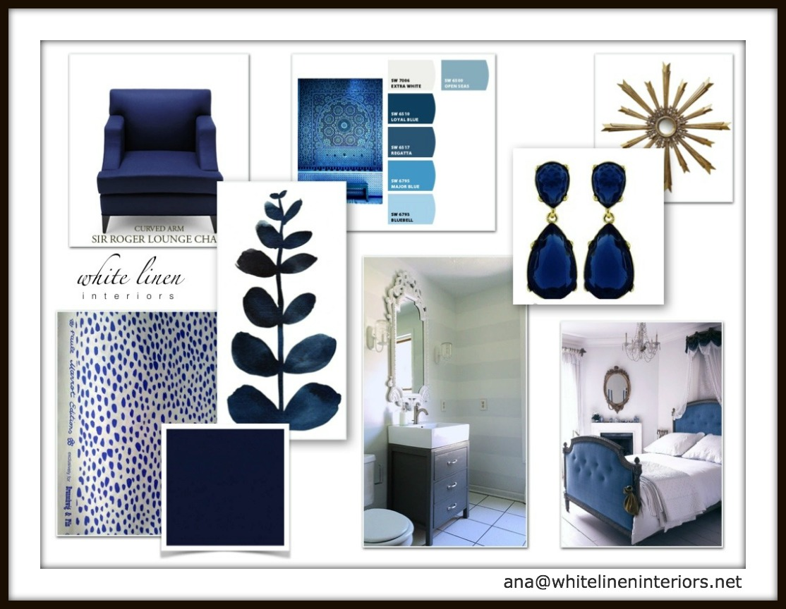 Indiog Blue Mood Board | Decor Idea Board