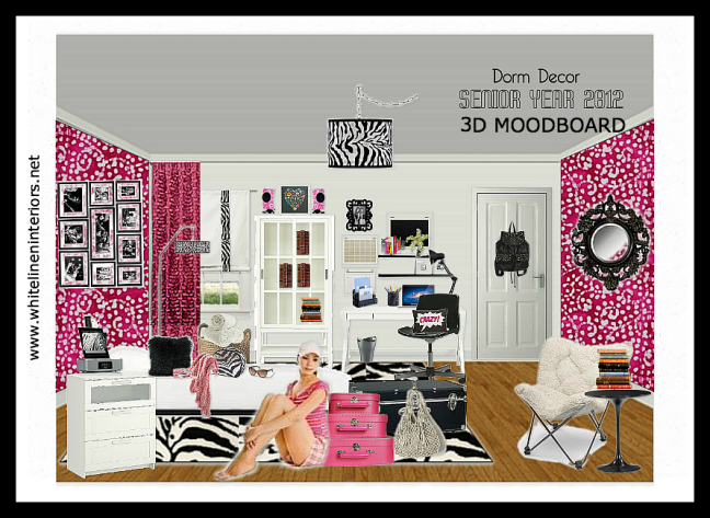 White dorm room decor ideas and product info.