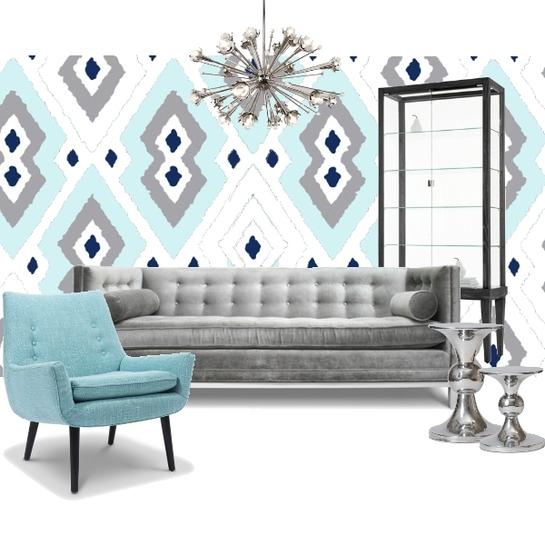 Project Decor Decor Board | Blue and Gray | Blog White Linen Interiors Miami