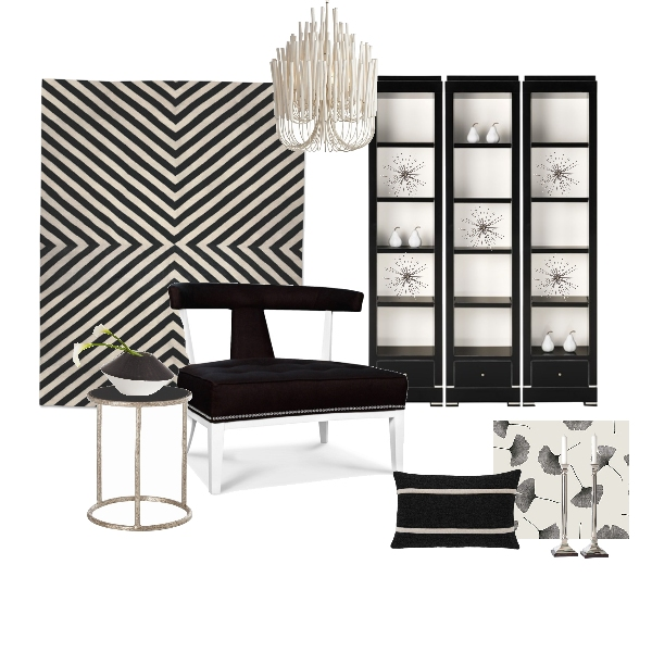 Project Decor Black and White Deco Board | blog White Linen Interiors Miami