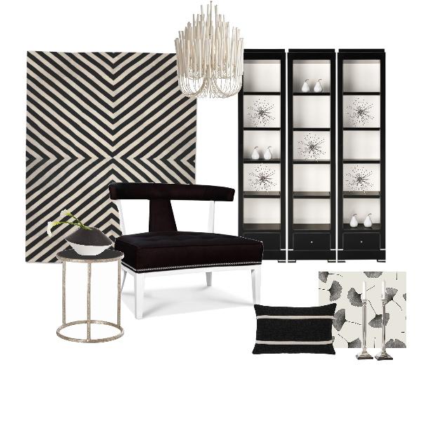 Project Decor Black and White Deco Board | blog White Linen Interiors Miami