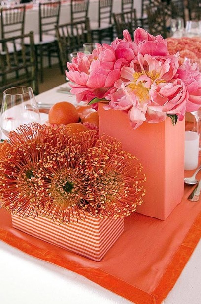 Peach and pink for baby shower