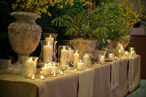 Candles with urns - arrangement - Entertaining with Style