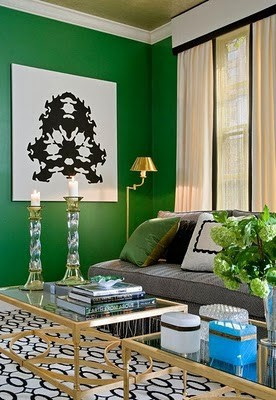Green Emerald Wall Paint Color | Blog White Linen Interiors Miami