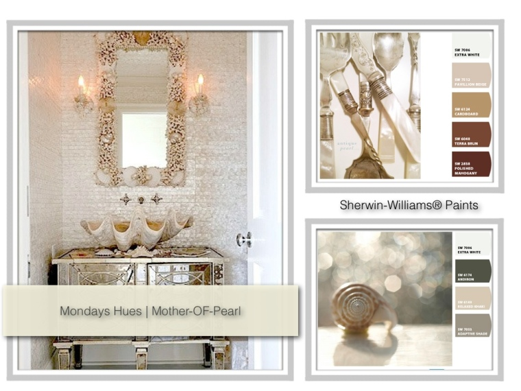 image mother of pearl color inspiration Sherwin Williams paints