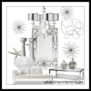 WINTER WHITE SPARKLE DECOR BOARD