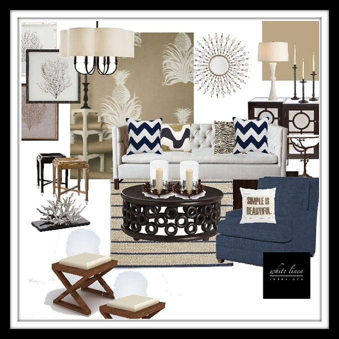 Transitional Claasic Style Living Room design board by Ana Damaris Then