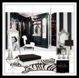 Hollywood Glam Regency Style Dressing Room