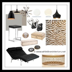 Sexy Masculine with golden accents, and color schemes grays or whites.
