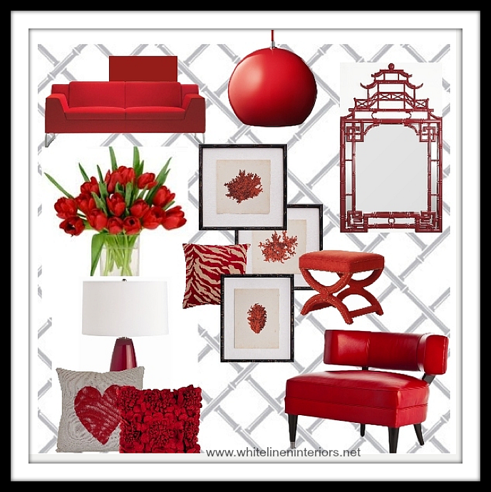 Red Home Decor | Fab Friday Finds! | Blog White Linen Interiors Miami