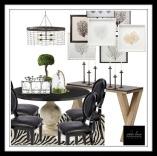 Transitional Style: Rustic Elegance Meets Regency Dining Room