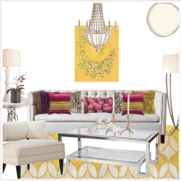 Sunny Yellow Living Room #2 design board