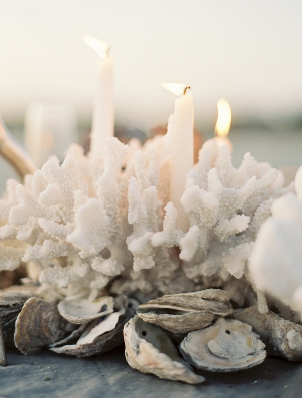 CANDLES AND SEASHELL DECOR PINTEREST WHITE LINEN INTERIORS.NET