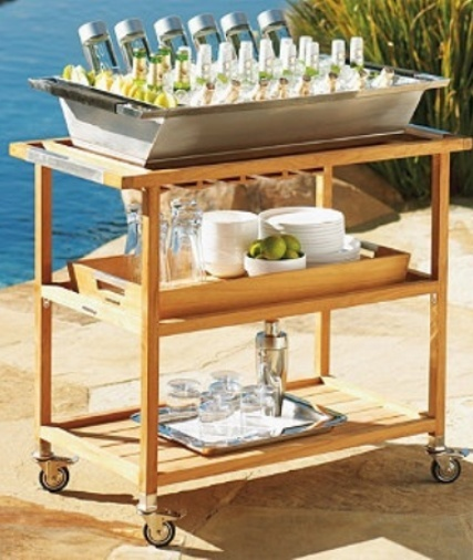 POOLSIDE A LA CART BAR CART - PINTEREST COASTAL STYLE