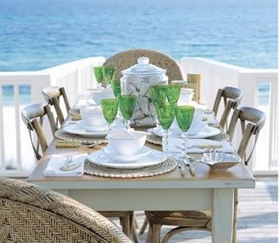 COASTAL STYLE DINING BY THE SEA PINTEREST COASTAL STYLE | Blog White Linen Interiors Miami