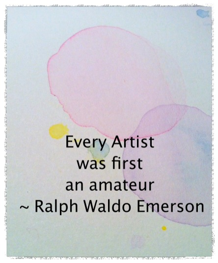 watercolor bubbles art with a quote