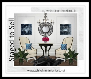 Stage to sell Living Room Design Board