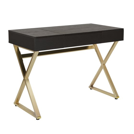office desk with gold base and legs